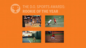 The four nominees for Rookie of the Year come from the men's basketball team, the women's lacrosse team, the tennis team and the softball team.