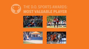 The five teams represented for this award are: Football, Cross Country / Track & Field, Softball, and Women's Basketball.